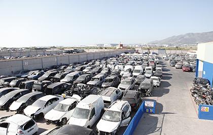 Patio de vehiculos desguace